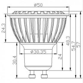LED G20 steeklampje 8-30 Volt 1.5 W 3000