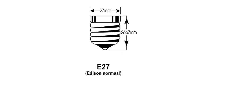 E27 LED lichtbronnen met E27mm diameter schroeflampfitting
