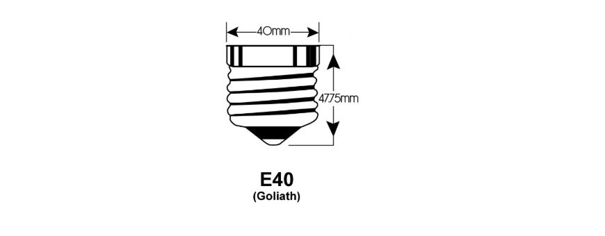 E40 LED lichtbronnen hebben een 40mm schroefdraai draadlampfitting