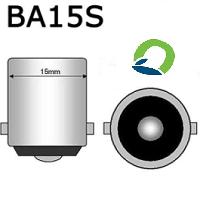 BA15S 15mm LED Lamp fitting Single contact 2 pootjes gelijke hoogte ledlightodf